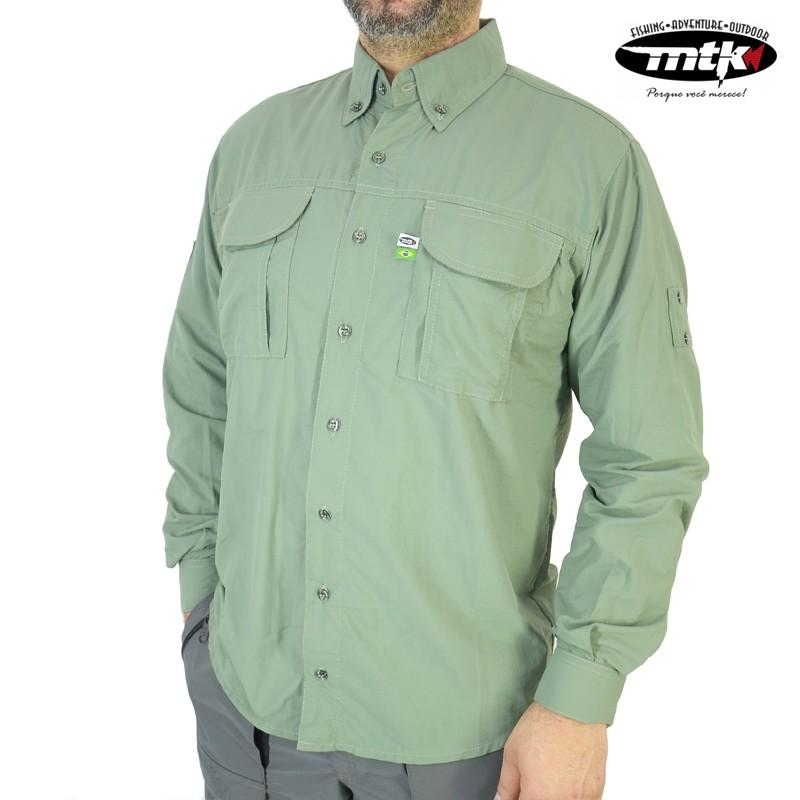 Camisa Wind MTK Proteção Solar Tam. EXG Chumbo