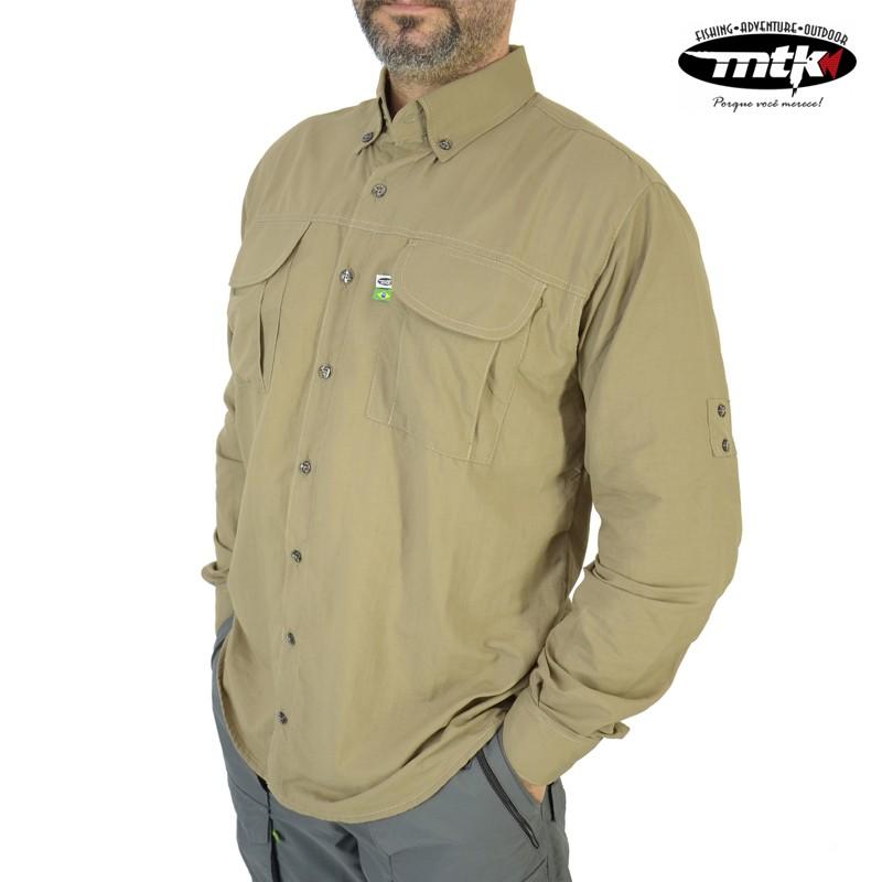 Camisa Wind MTK Proteção Solar Tam. G Caqui