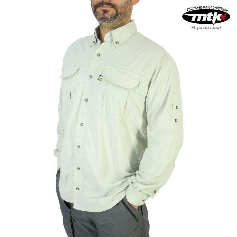 Camisa Wind MTK Proteção Solar Tam. GG Prata