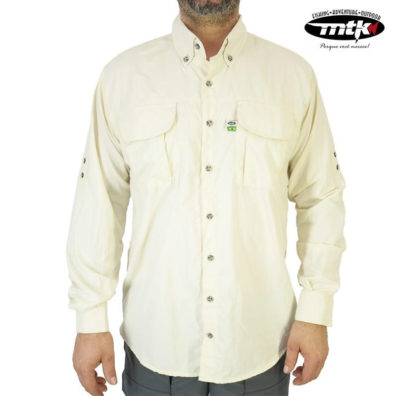 Camisa Wind MTK Proteção Solar Tam. M Areia