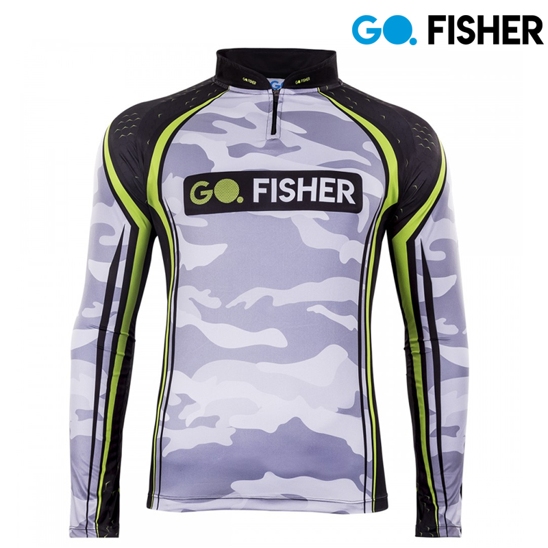 Camiseta de Pesca Camuflada GO 16 G - Go Fisher