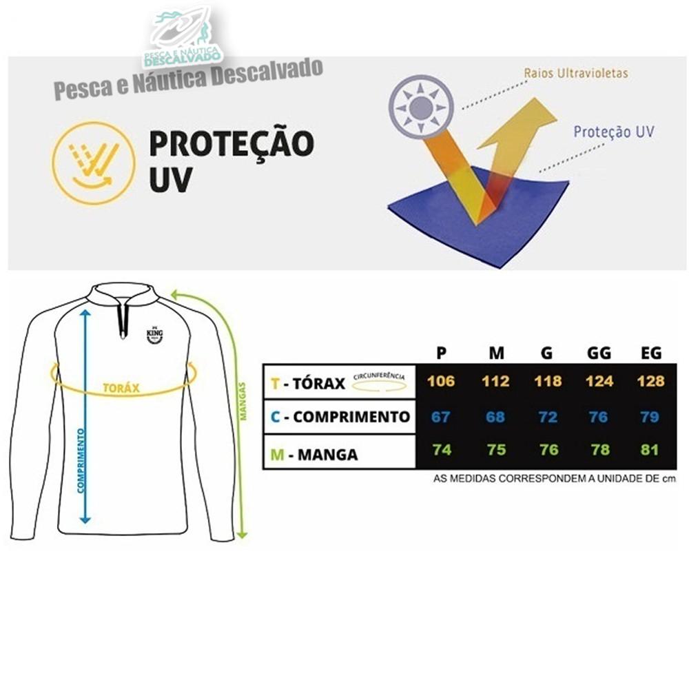 Camiseta de pesca feminina king kff72 - gg