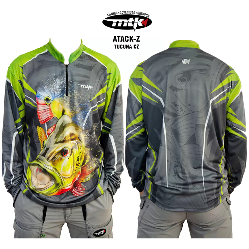 Camiseta de Pesca MTK Atack Z Cinza Tucuna GG