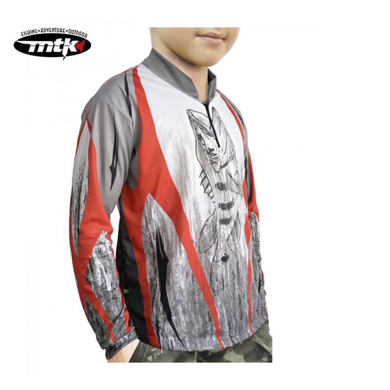 Camiseta de Pesca MTK Atack Z Infantil Tribal Tam. 10