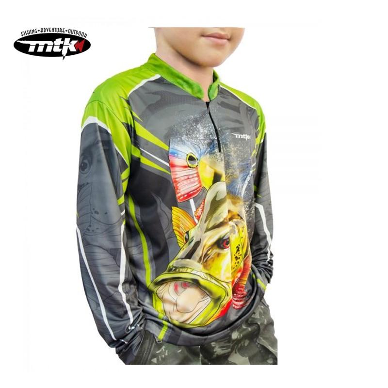 Camiseta de Pesca MTK Atack Z Infantil Tucuna Tam.08
