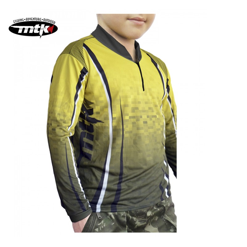 Camiseta de Pesca MTK Atack Z Infantil Yellow Tam. 12