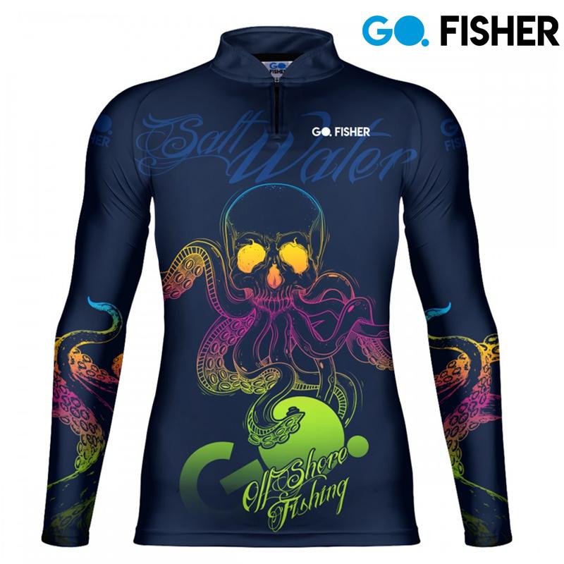 Camiseta de Pesca Salt Walter Skull GOSK 05 GG - Go Fisher