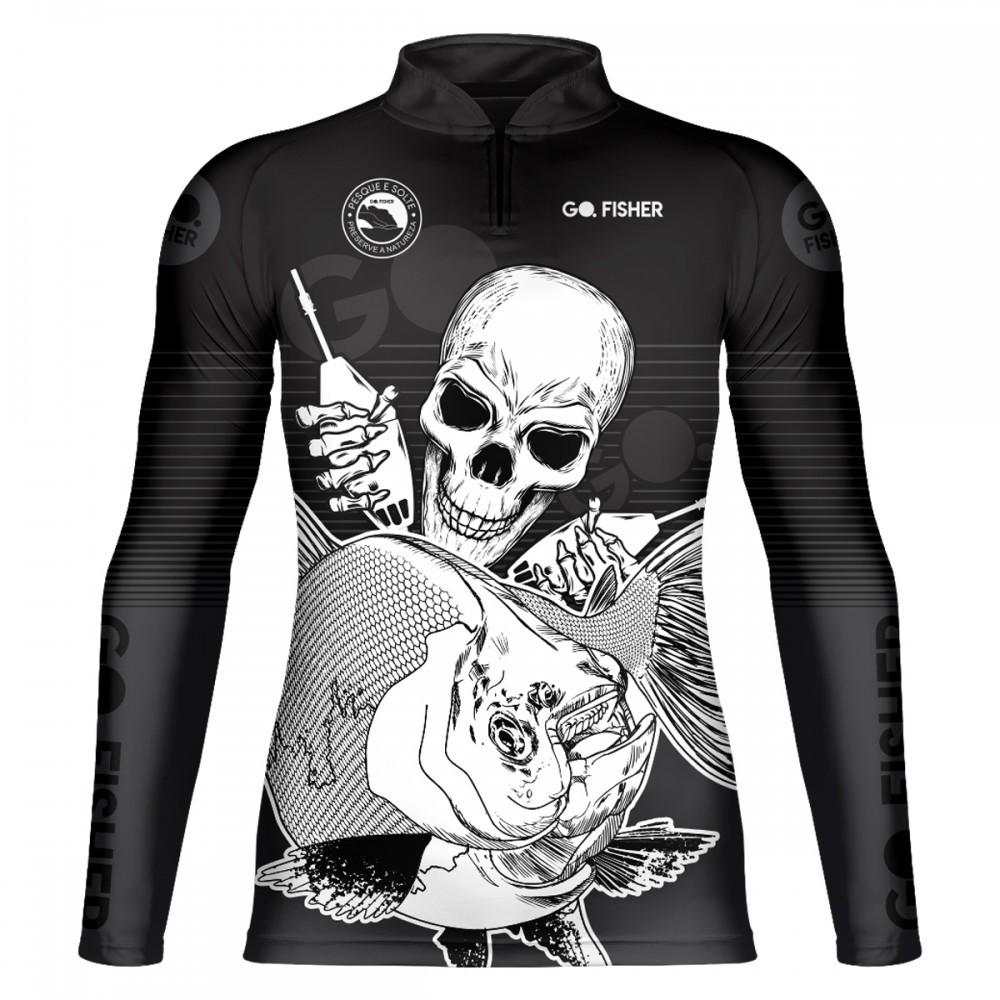 Camiseta de Pesca Tamba Skull GOSK 03 GG - Go Fisher