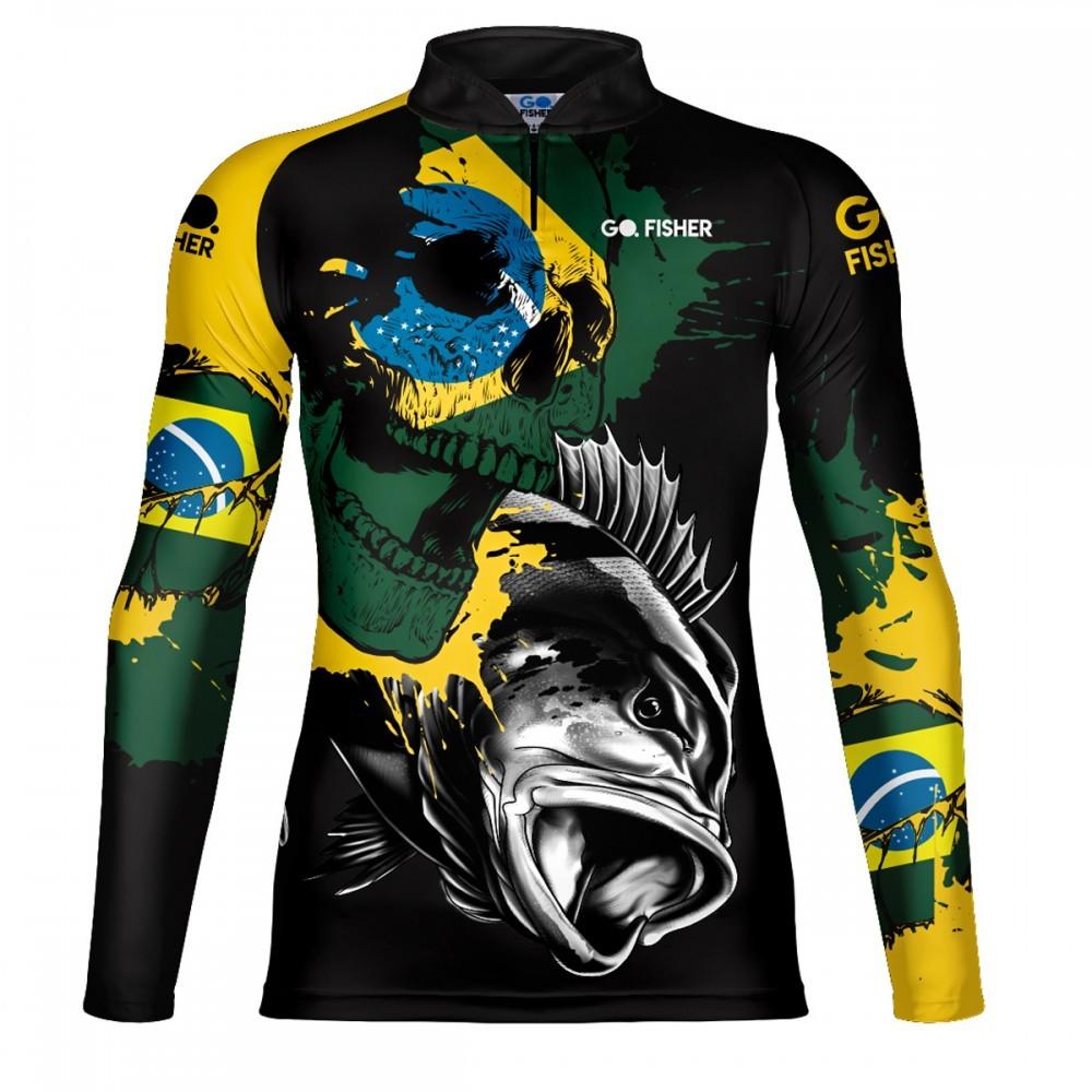 Camiseta de Pesca Tucuna BR Skull GOSK 02 GG - Go Fisher
