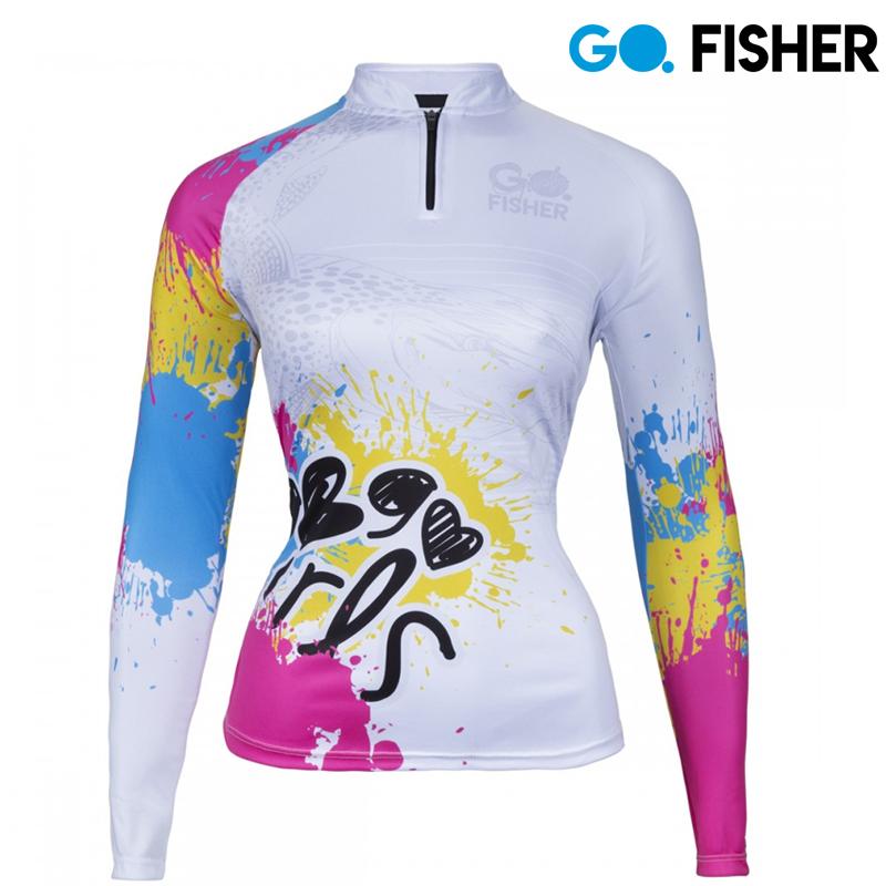 Camiseta Proteção Solar Feminina Pintado GOG 08 GG - Go Fisher