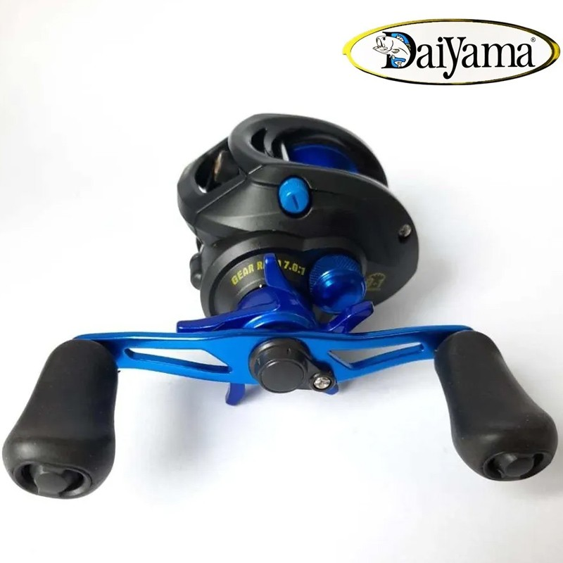 Carretilha Daiyama Everest 10 Rol Esquerda Azul