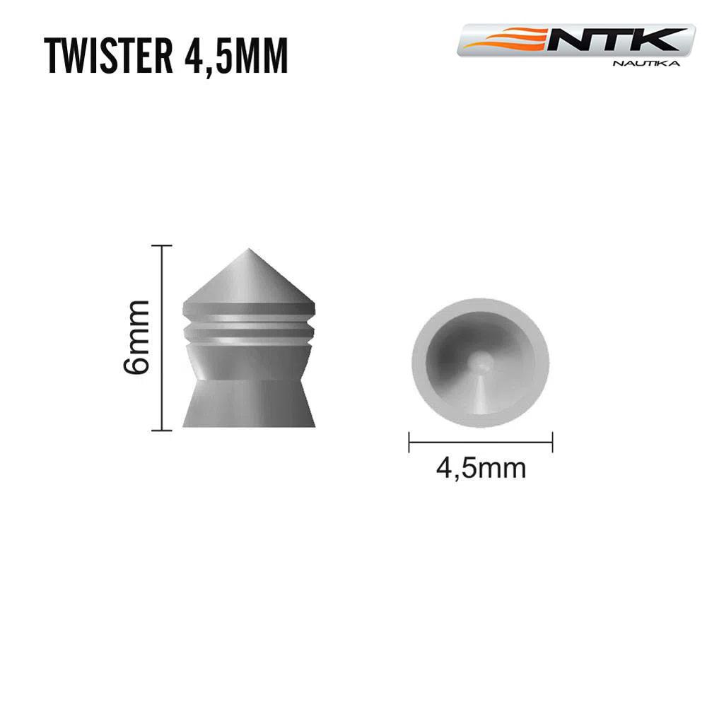 Chumbinho Nautika Twister Pro 4.5mm 250Uni