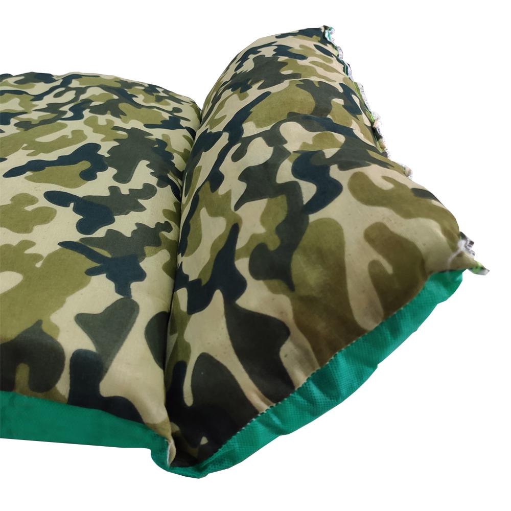 Colchonete Solteiro Verde Camuflado com Travesseiro