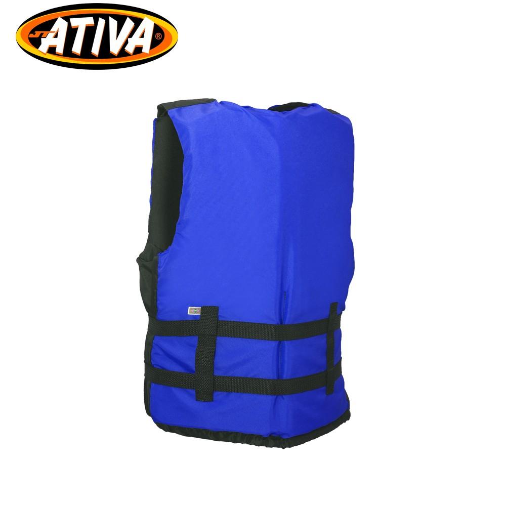 Colete Salva Vidas Canoa 70Kg Azul - Ativa
