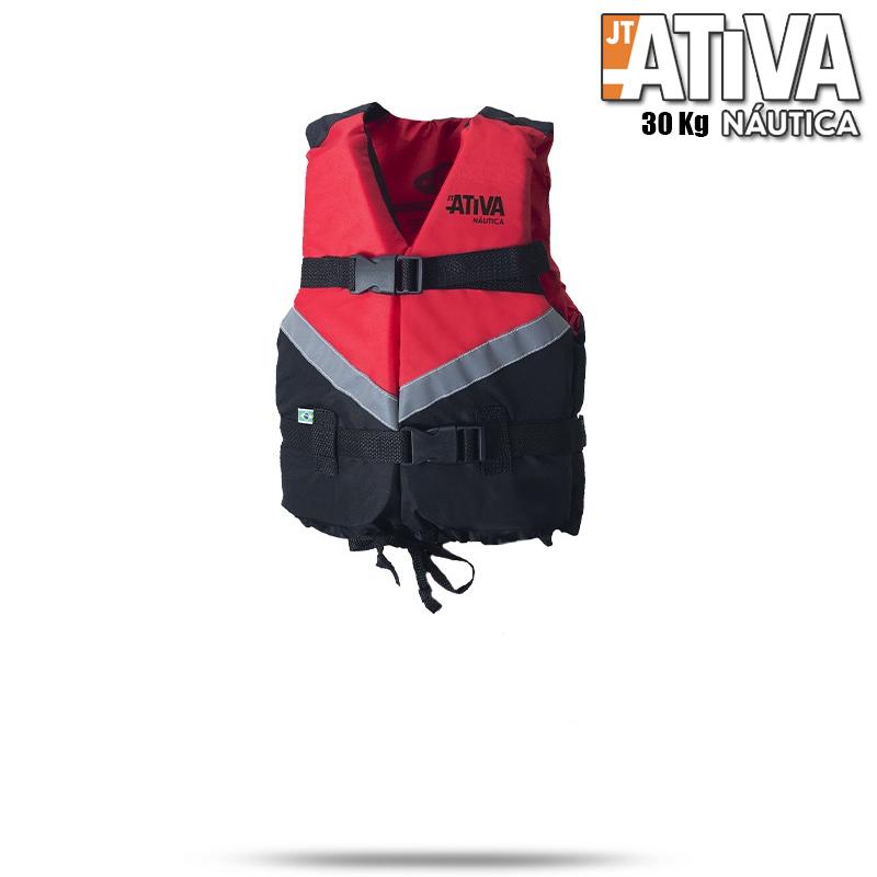 Colete Salva Vidas Canoa 2.0 Ativa 30Kg Vermelho