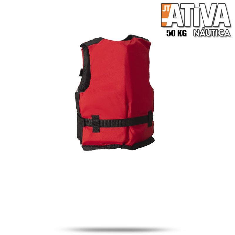 Colete Salva Vidas Canoa 2.0 Ativa 50Kg Vermelho