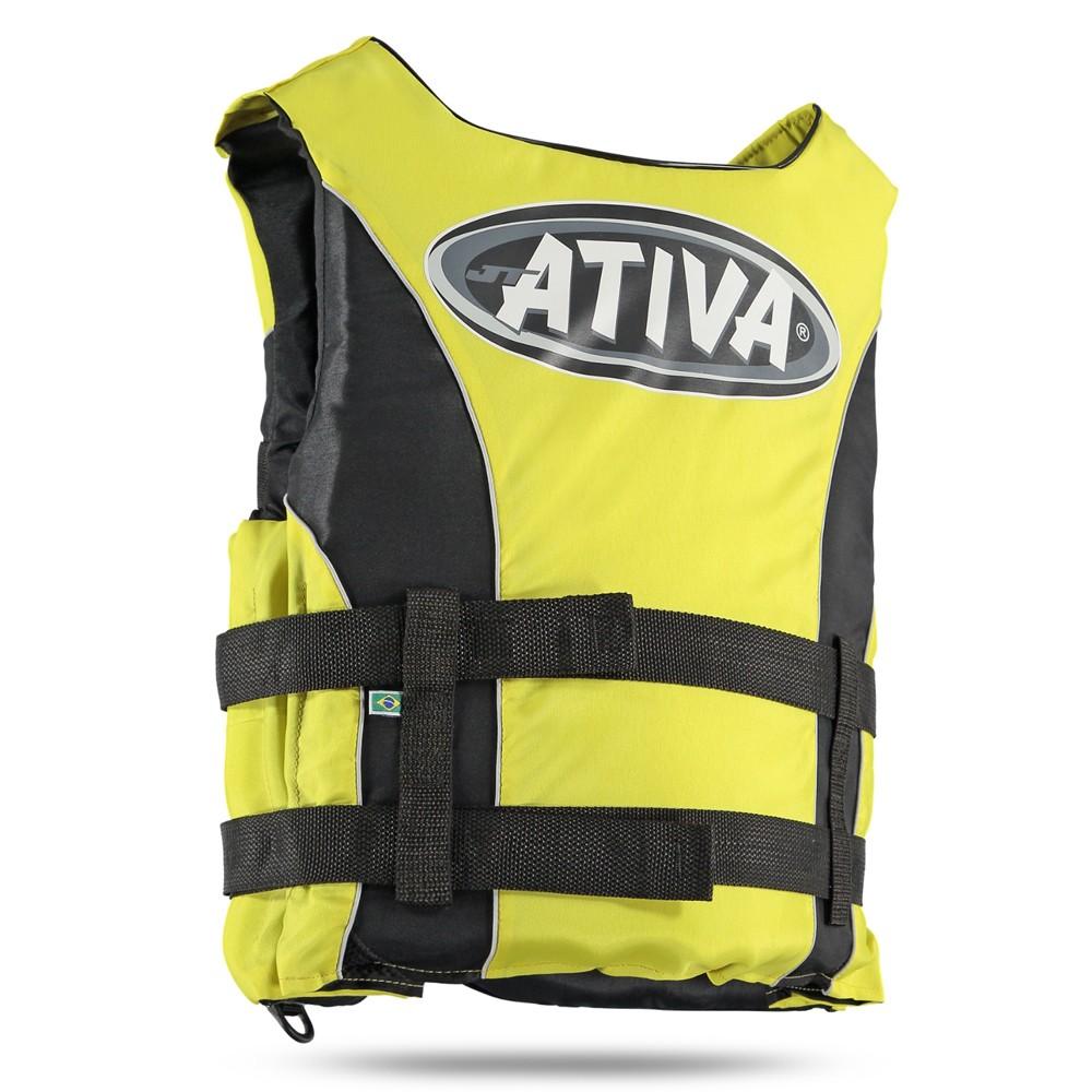 Colete Salva Vidas Homologado Classe 5 M Amarelo - Ativa