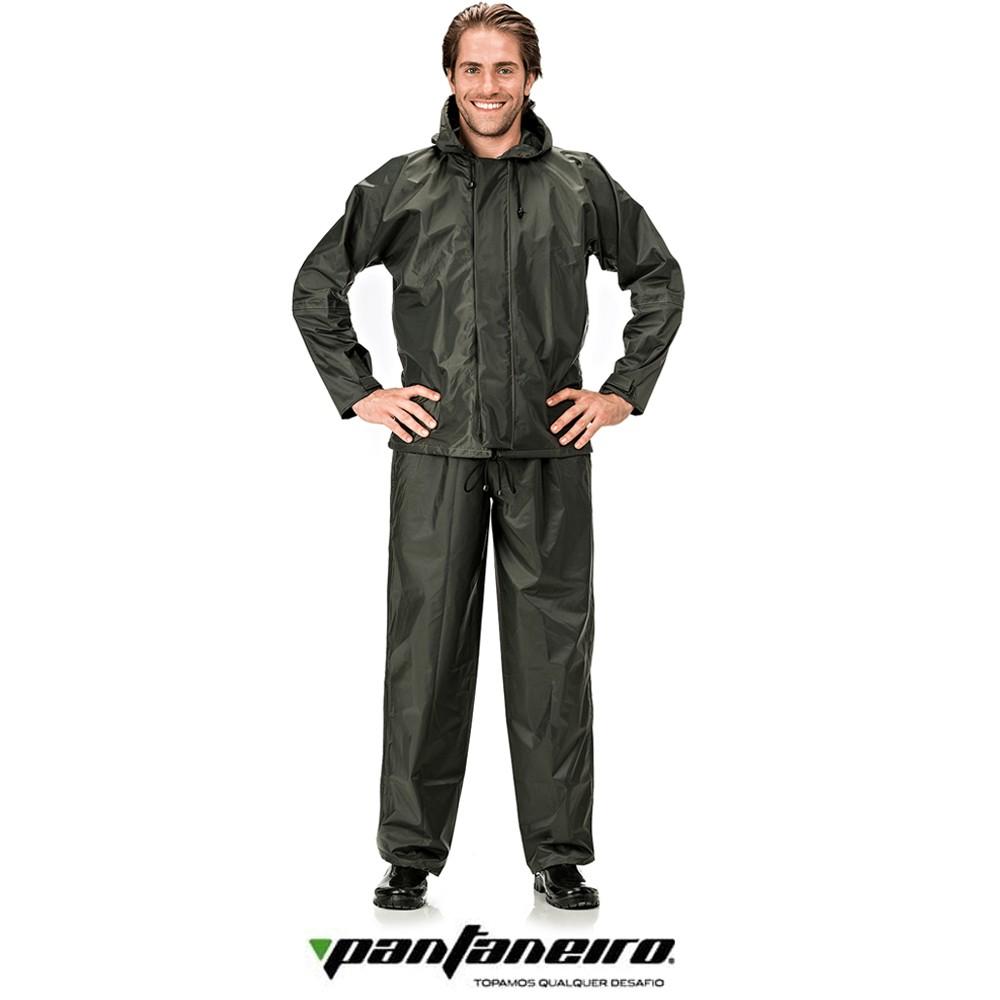 Conjunto Pescador Nylon Pantaneiro Verde Militar EX