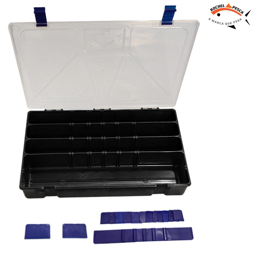 Estojo de Pesca Box 50 Preto - Rochel Pesca