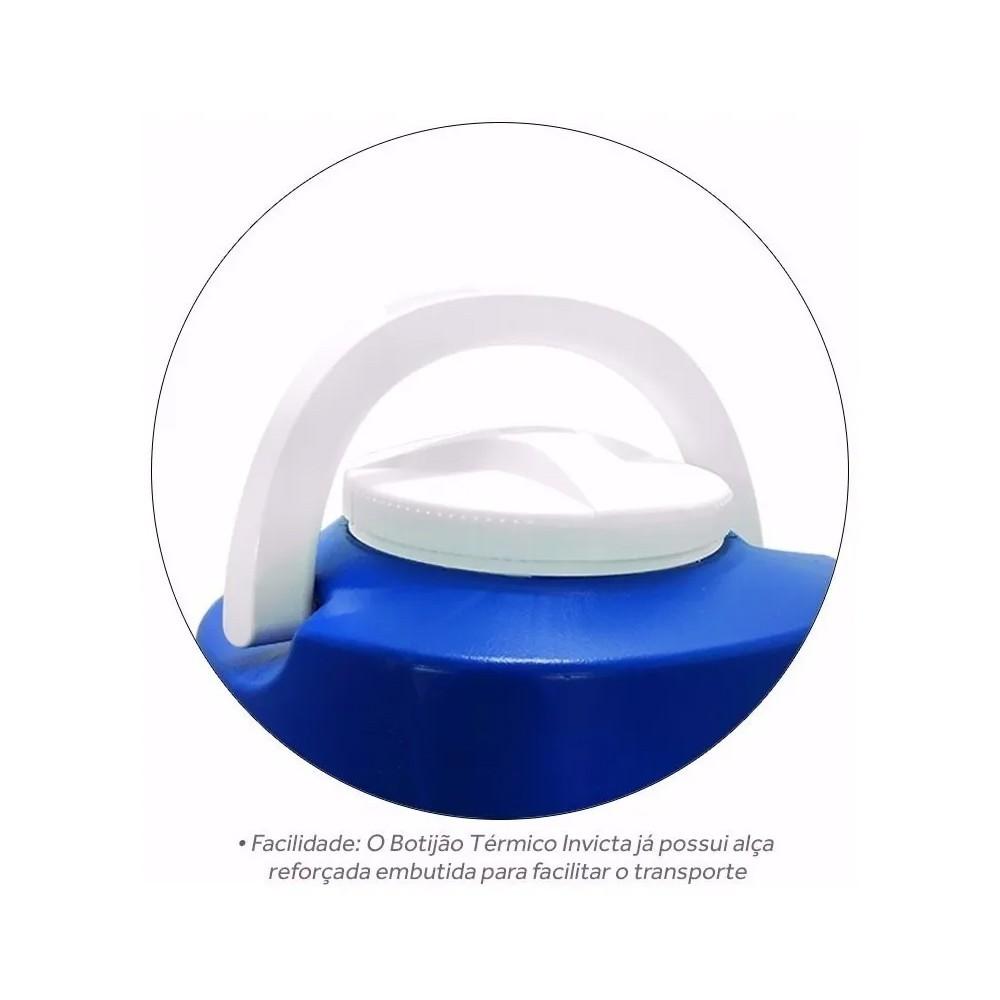 Garrafão Térmico com Tripé 9 Litros Azul - Invicta