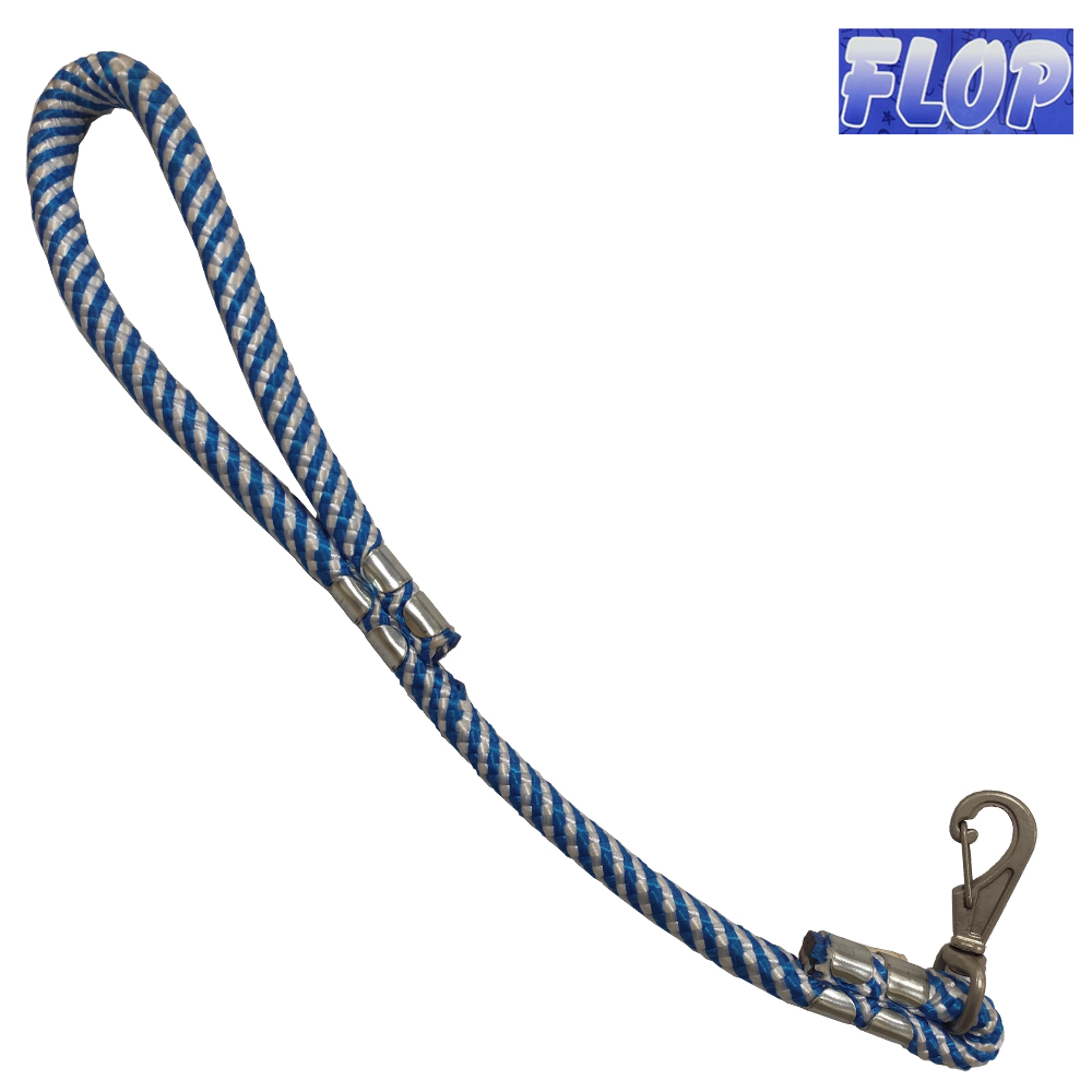 Guia de Corda para Cães 60cm Azul/Branca - Flop