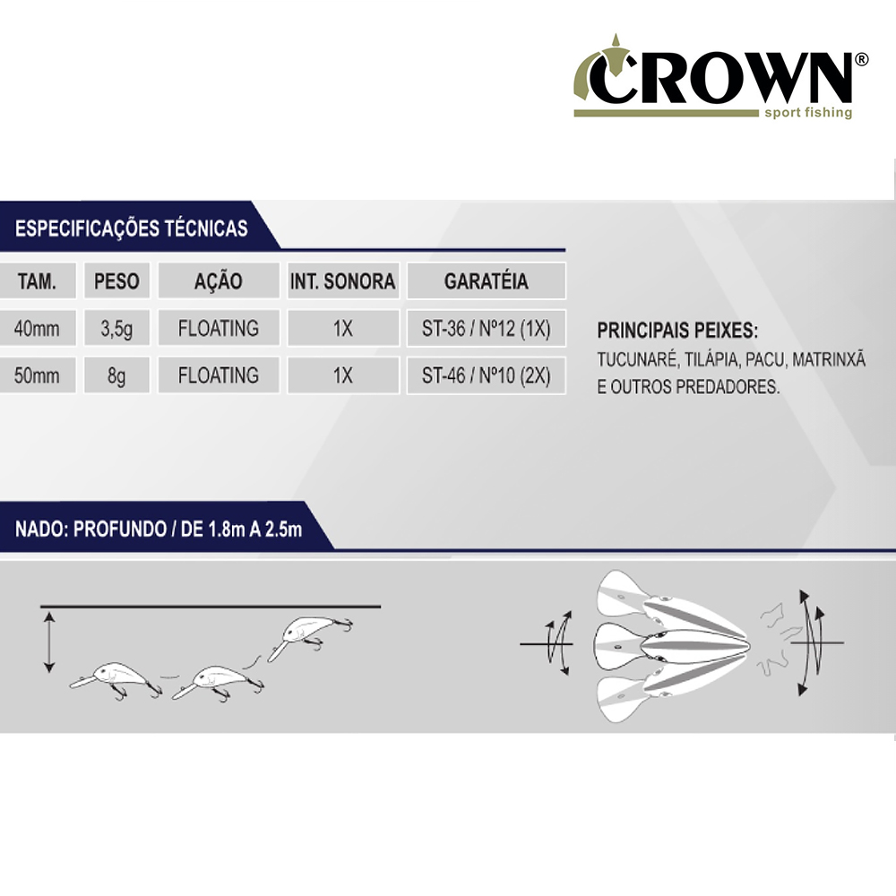 Isca Artificial Bilela 50 CR43 - Crown