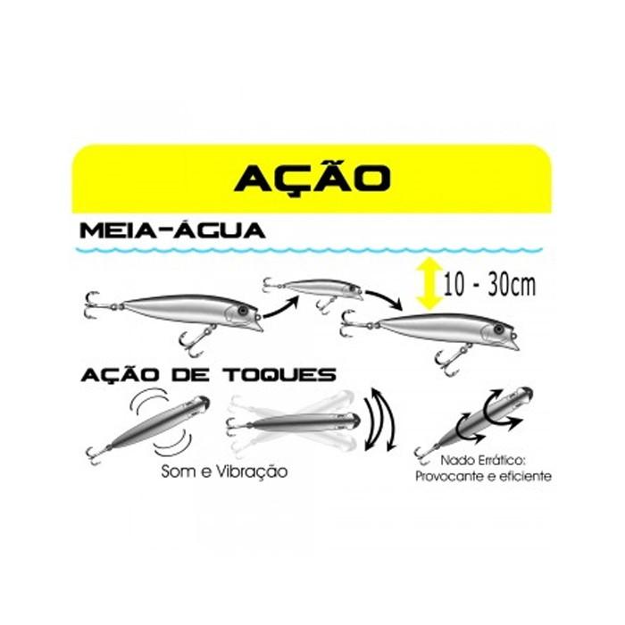 Isca Artificial Brava 77 Cor 12 - Marine Sports