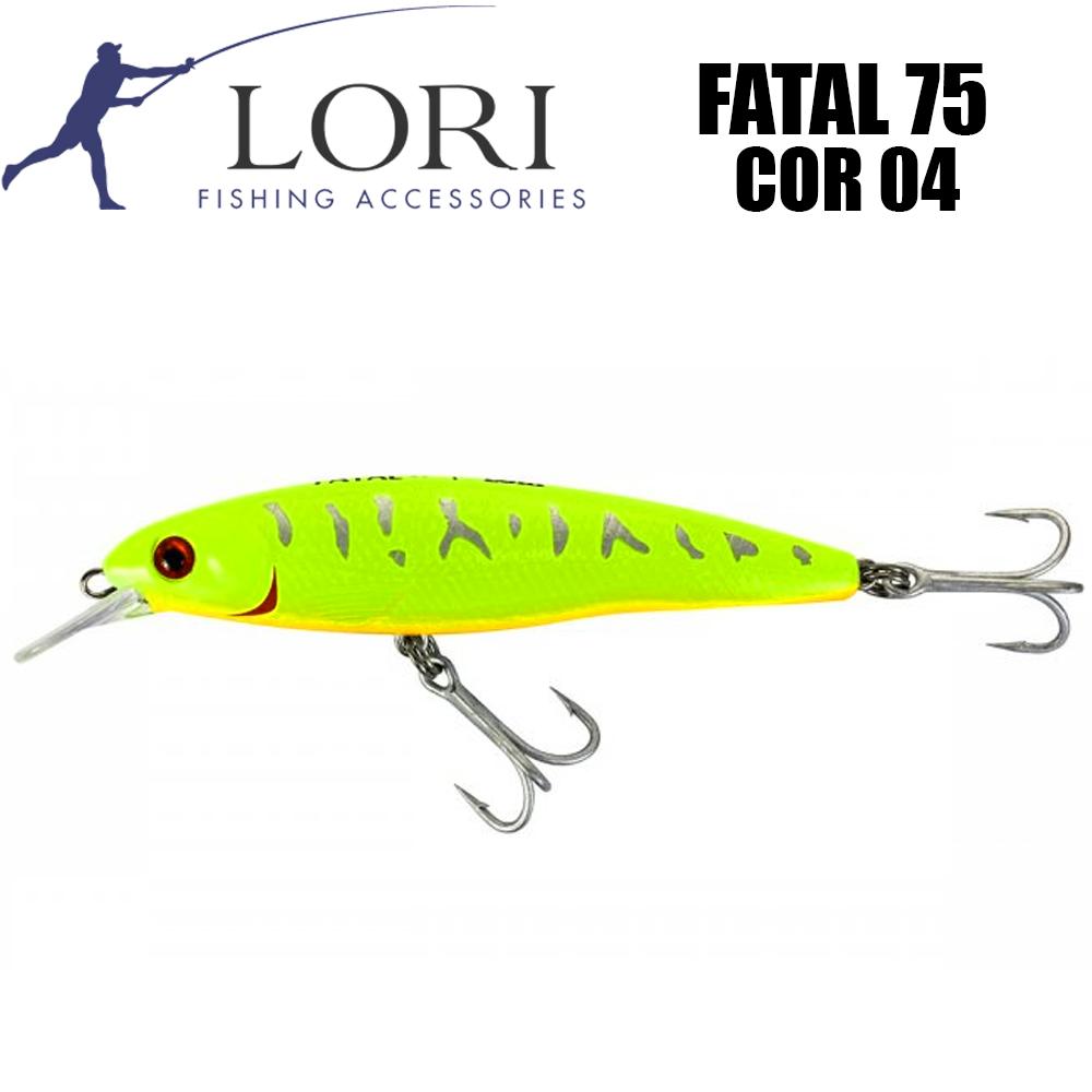 Isca Artificial Fatal 75 Cor 04 - Lori