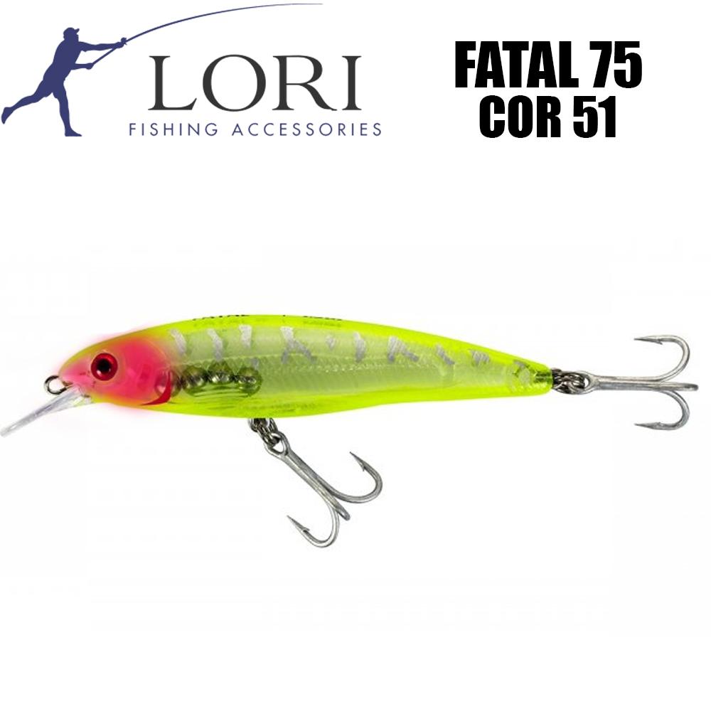 Isca Artificial Fatal 75 Cor 51 - Lori