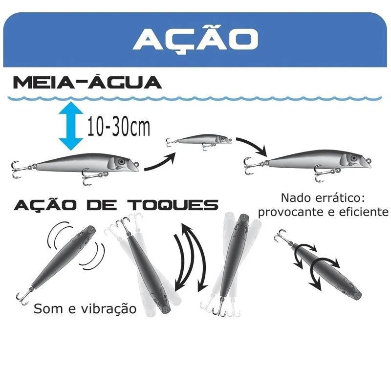 Isca Artificial Rei do Rio 80 Marine Sports Cor 05