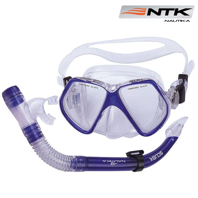 Kit de Mergulho Scuba Nautika Mascara e Respirador