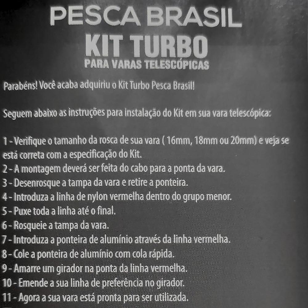 kit Turbo para Vara Telescópica 4,50 M - Pesca Brasil