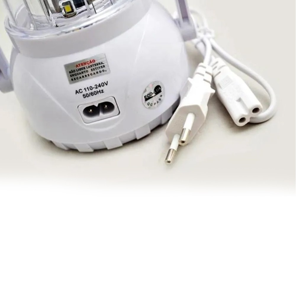 Lampião Led Recarregável Eco-770A - Eco Lux