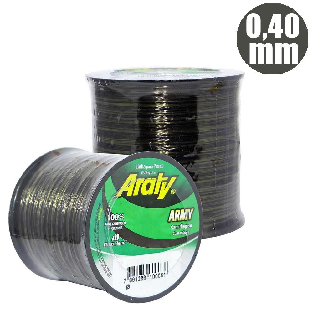 Linha Army 720 M 0,40mm Bicolor Camuflada - Araty