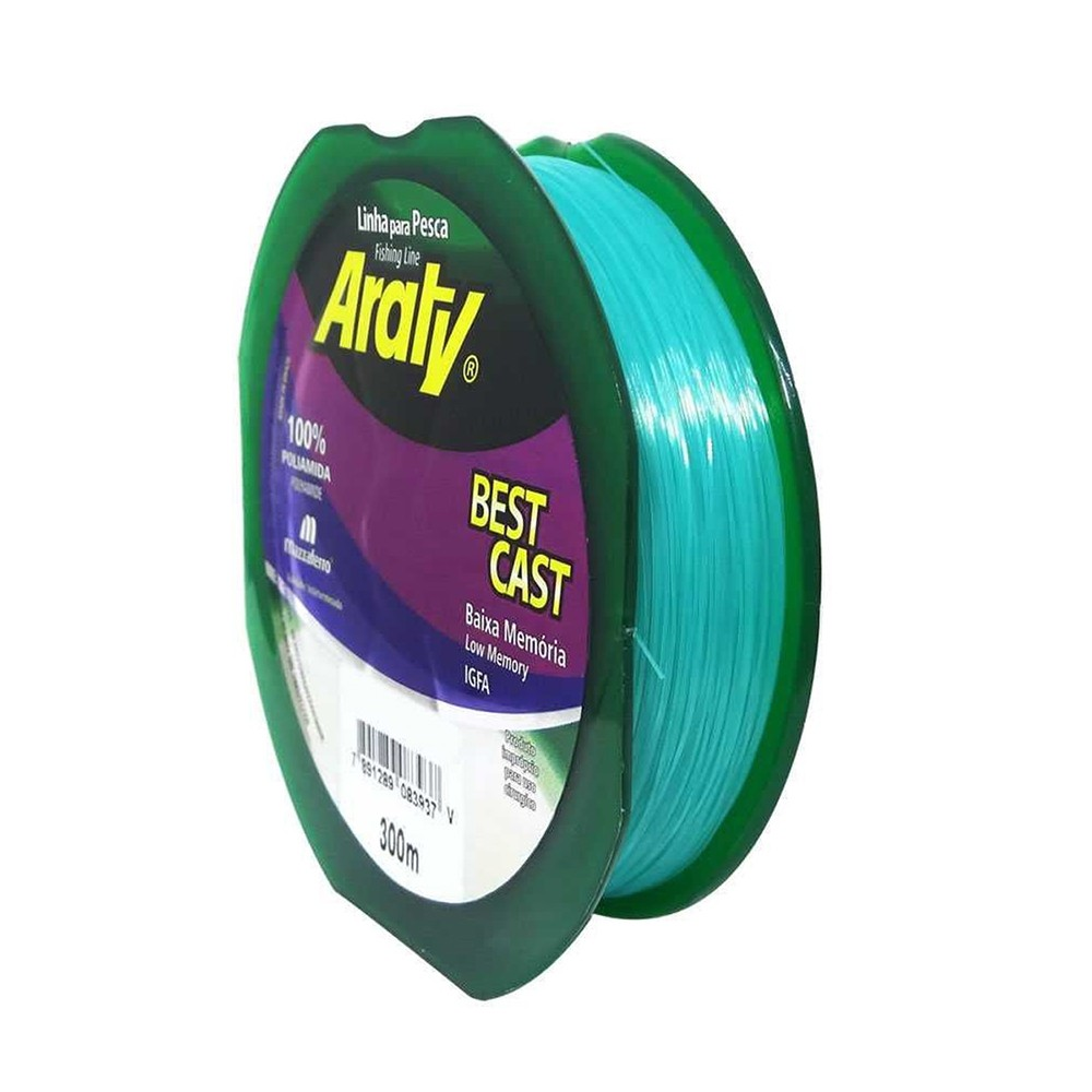 Linha Best Cast 300 M 0,30mm Verde - Araty