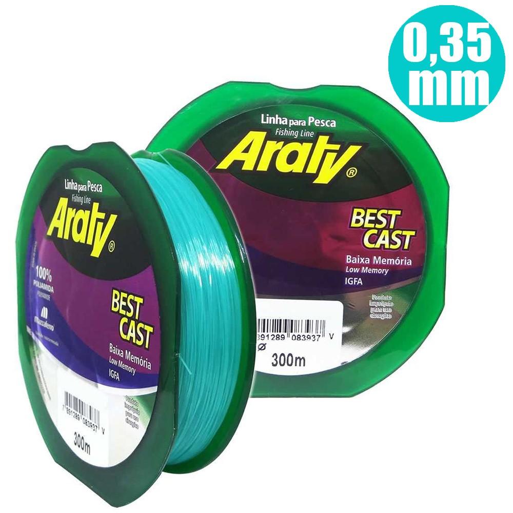 Linha Best Cast 300 M 0,35mm Verde - Araty