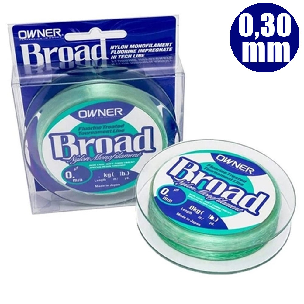 Linha Monofilamento Owner Broad 300 M 0,30mm - Owner