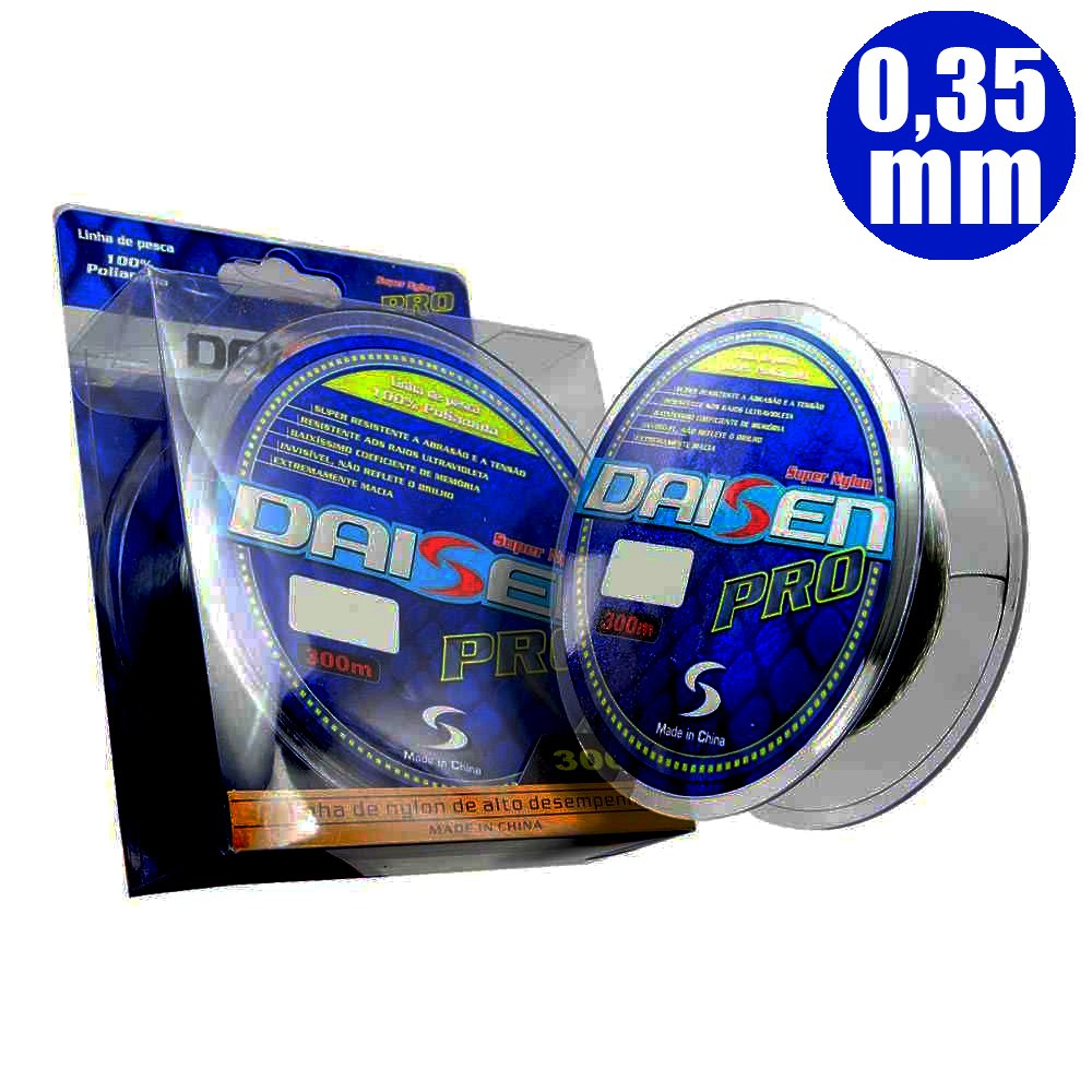 Linha Monofilamento Daisen Pro 300 M 0,35mm - Maruri