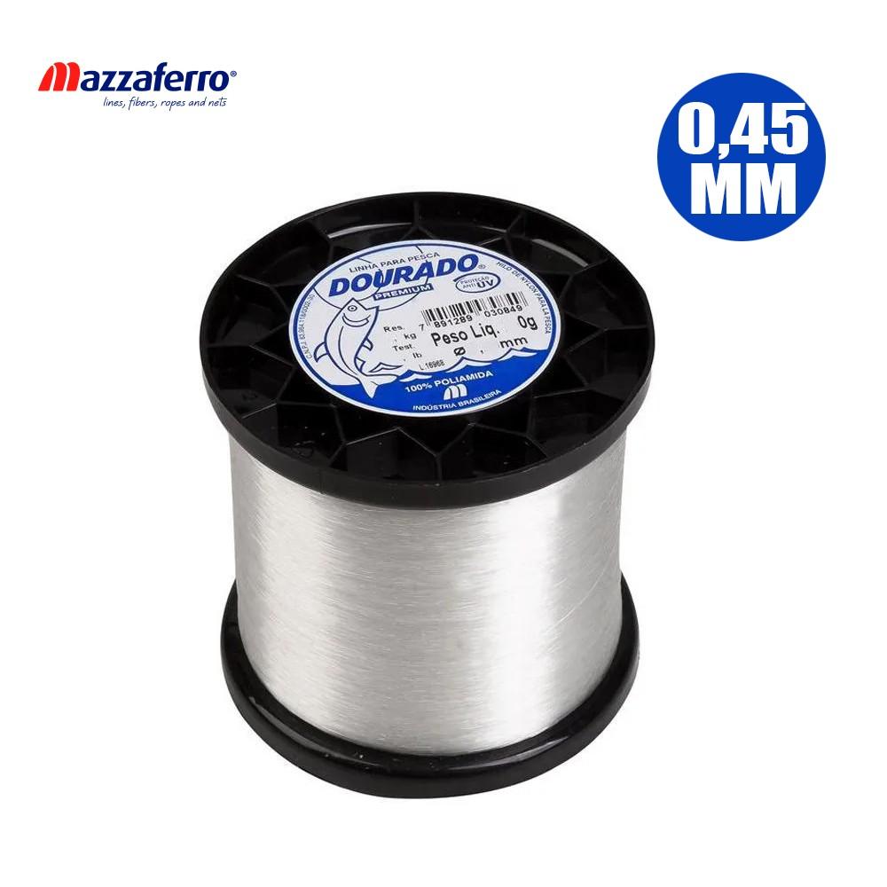 Linha Dourado 0,45mm 21,6lb 1270 M - Mazaferro