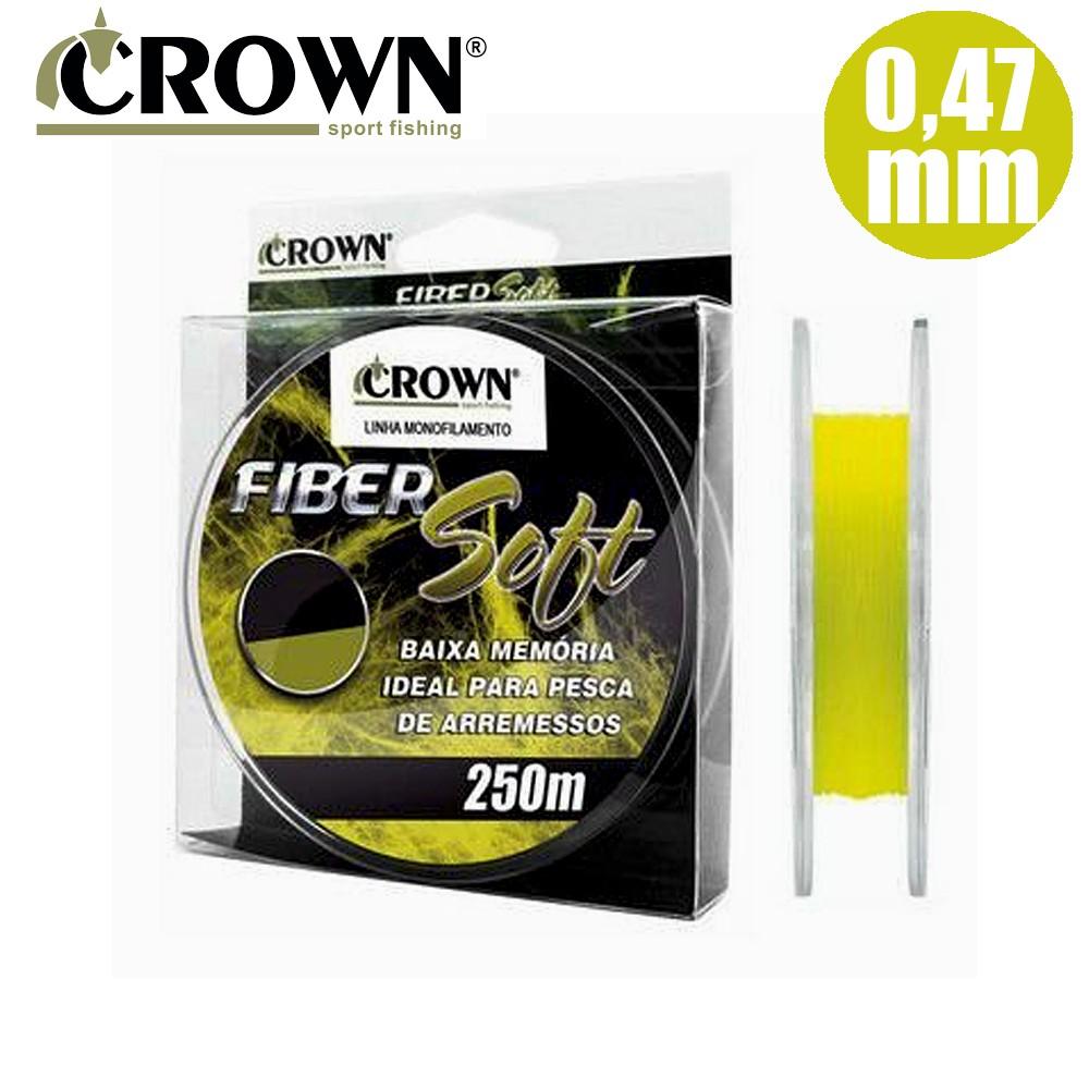 Linha Mono. Crown Fiber Soft 250 M 47mm Yellow
