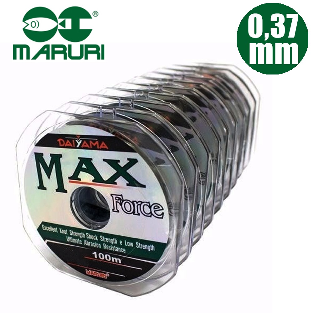 Linha Mono. Max Force  0,37mm 28lbs 100M- Maruri