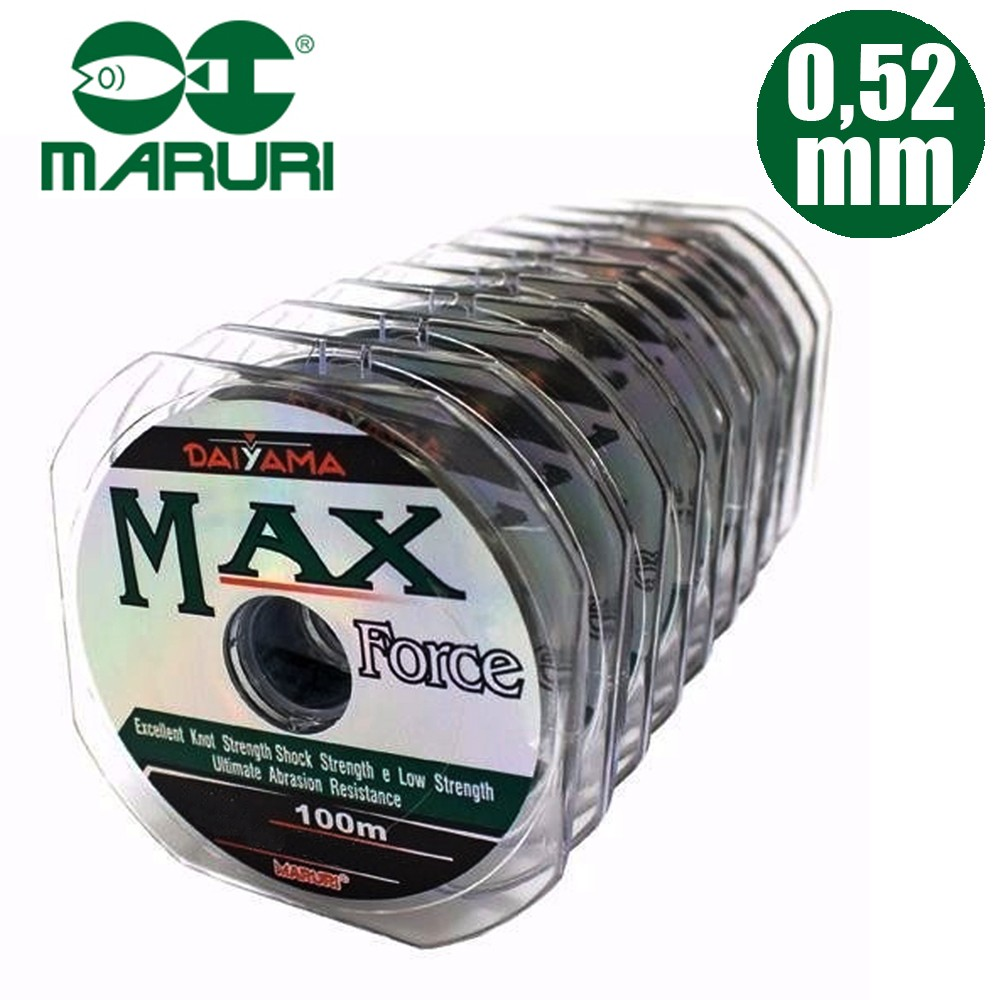 Linha Mono. Max Force 0,52mm 54lbs 100M- Maruri