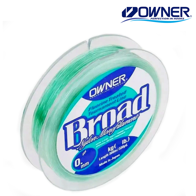 Linha Monofilamento Owner Broad 300 M 0,33mm - Owner