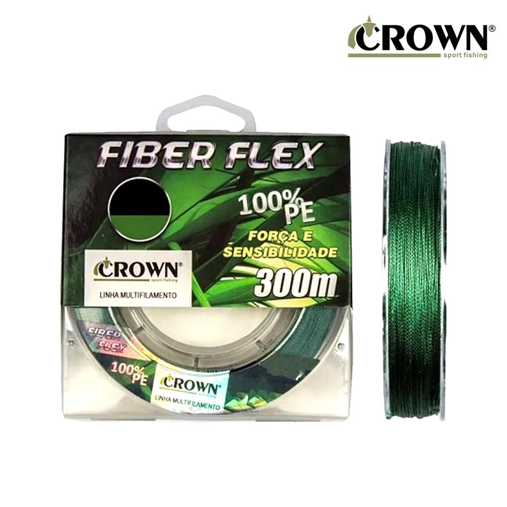 Linha Mult. Fiber Flex 4X 0,16mm 300M - Crown