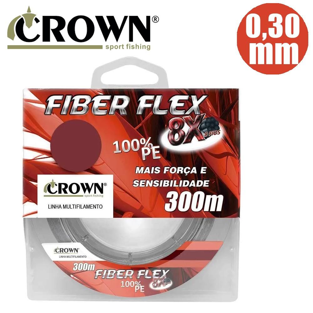 Linha Mult. Fiber Flex 8X 0,30mm 300M - Crown