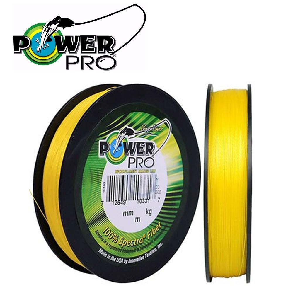 Linha multifilamento power pro 135m 0,23mm amarela