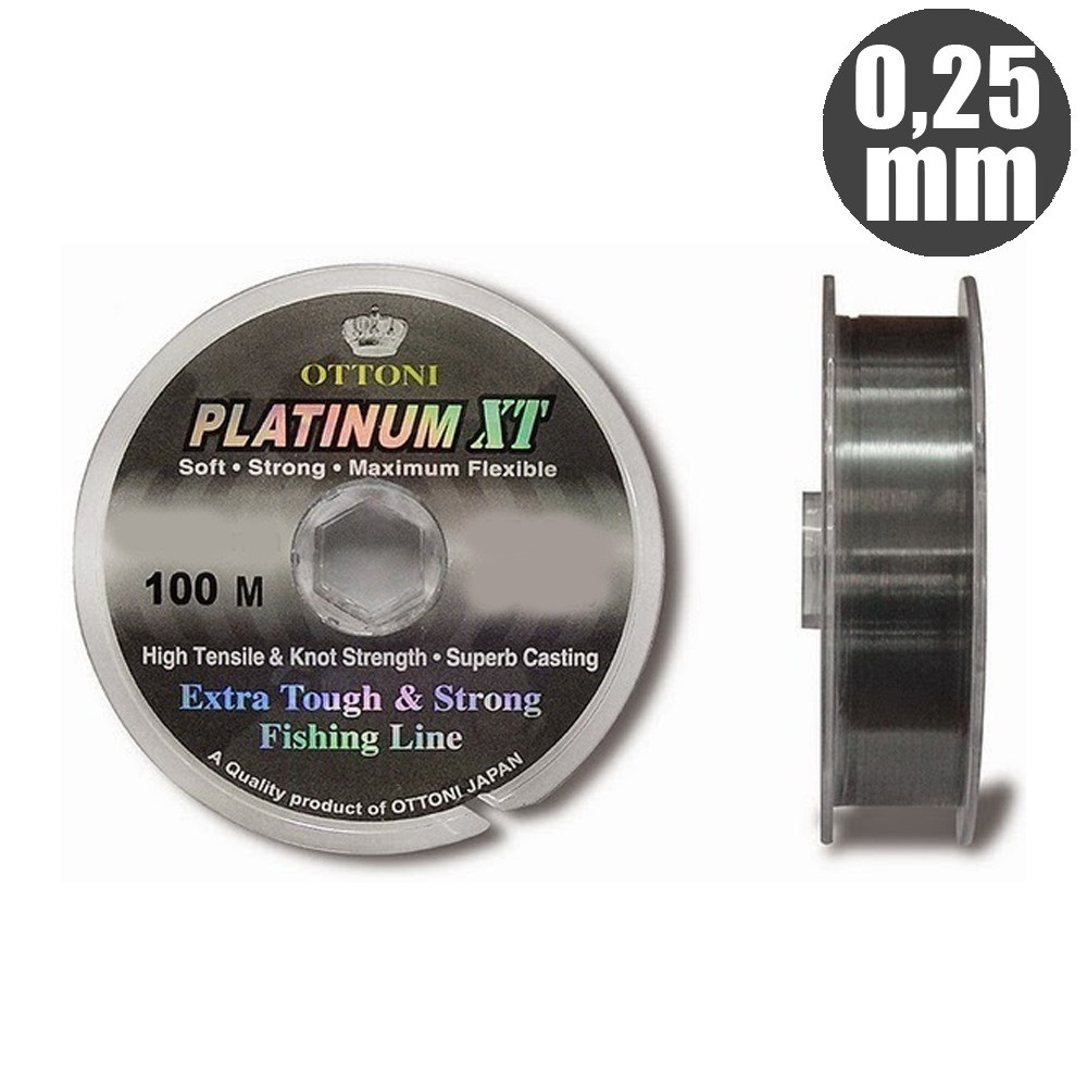 Linha platinum xt 0,25mm - ottoni