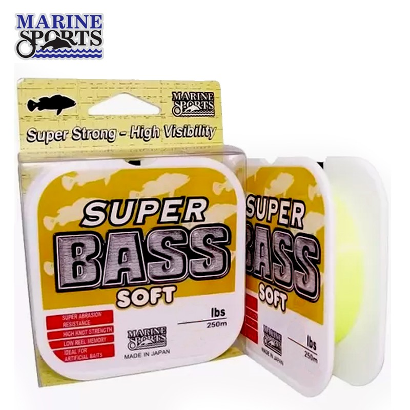 Linha Super Bass Soft Marine Sports 37mm 250M Amarela
