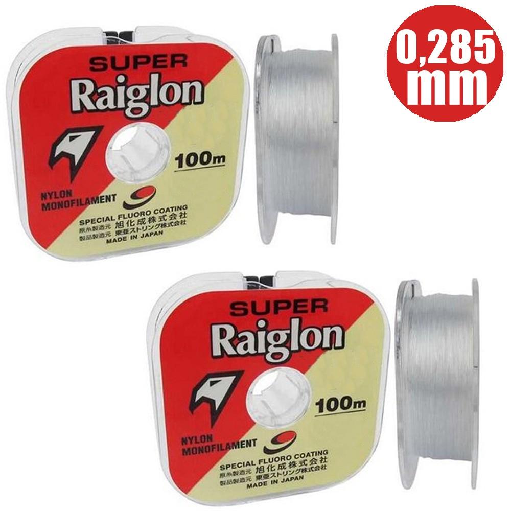 Linha Japonesa Super Raiglon Tornament 0,285mm 100M