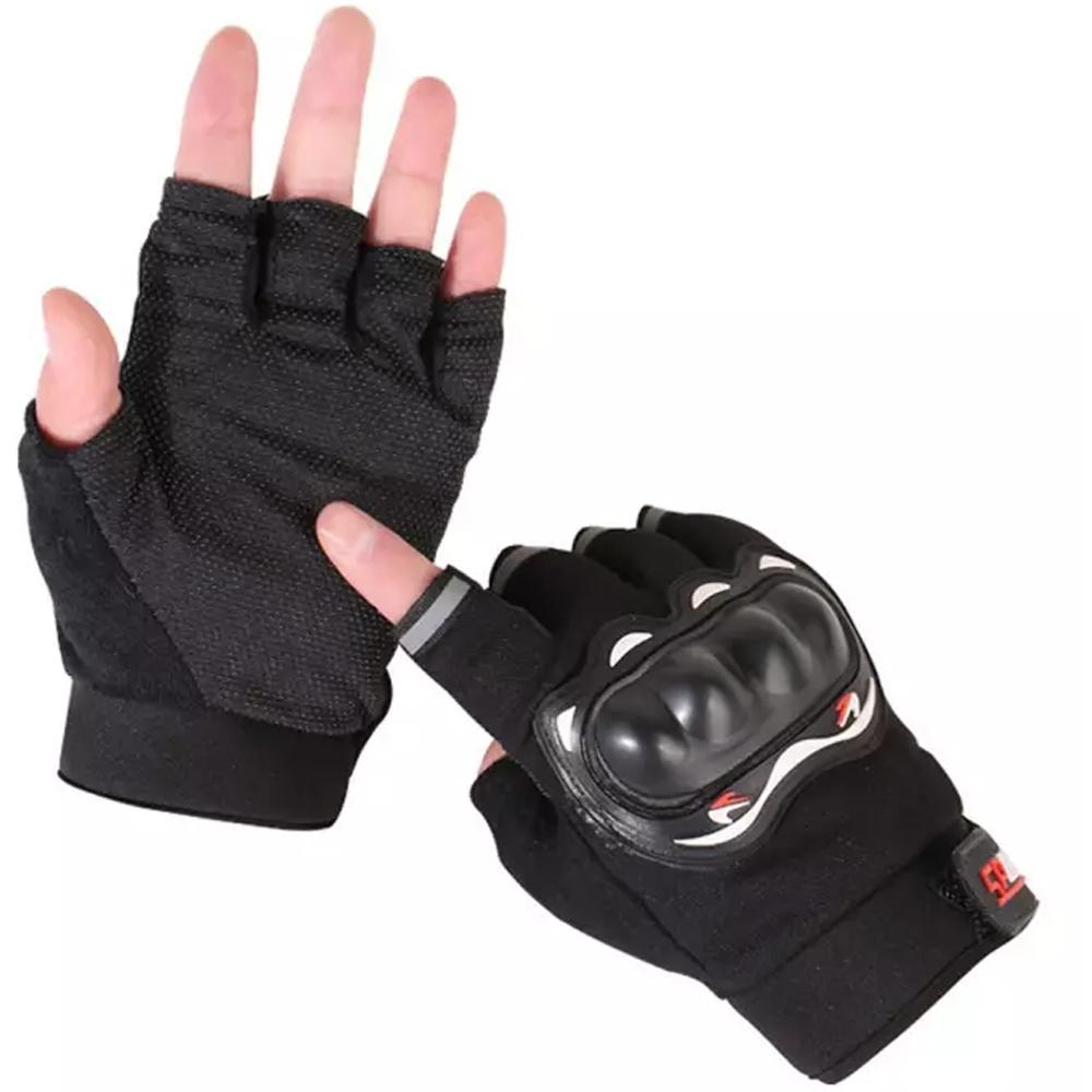 Luva Meio Dedo Esportiva com Proteção - Sports